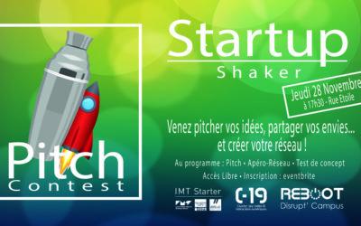 Startup Shaker : Pitch contest 28 Novembre