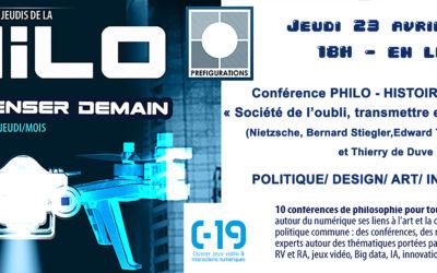 Conférence Histoire des Idées, jeudi 23 avril à 18h